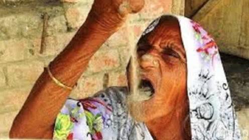 奇葩!印度80岁老奶奶,吃了63年沙子,网友:铜肠铁胃