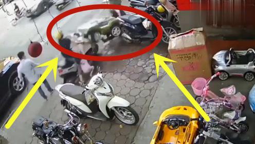 妻子活生生被玩具车送入地狱,丈夫当场暴怒,监控拍下离奇过程!