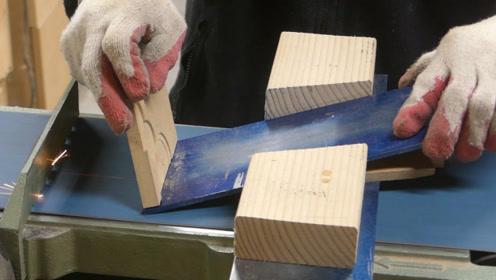 切一块铝板,打造一个斜着用的木刨,看起来很不错可以一试