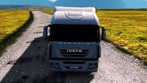 模拟驾驶:驾驶大货车跑长途,场景太真实,货车司机不好当!