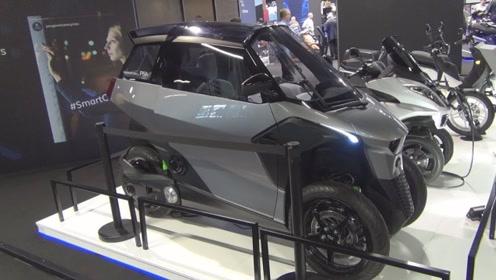 德国发明的电动车,科技感十足,遮风避雨还有空调比汽车都厉害