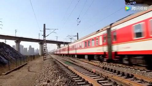全程33小时包头开往南昌 HXD3C牵引K1278次列车途径大同段