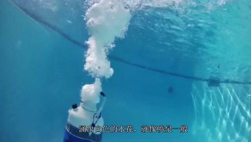 在水下打开液氮瓶会怎样?老外跑到泳池底测试,结果大开眼界