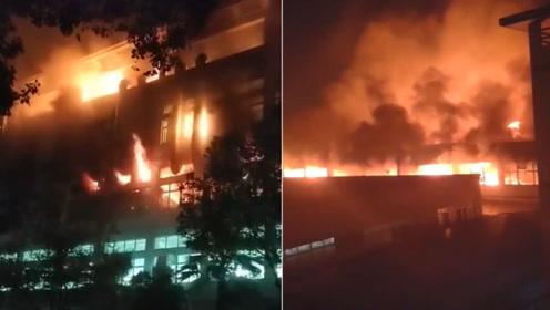 """浙江瑞安蜘蛛王集团3楼家具厂大火 整个厂房陷入""""火海"""""""