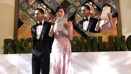 林志玲婚礼念给父母一封信 情绪激动从头哭到尾