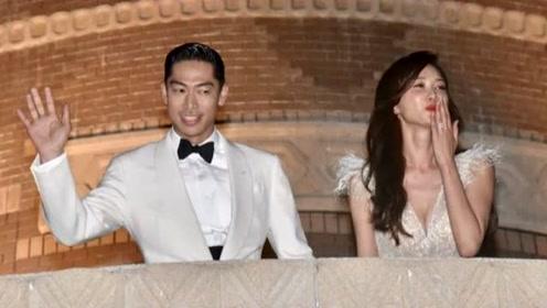 林志玲着梦幻礼服登场根本公主!举手比出大爱心 老公下一秒动作Q炸