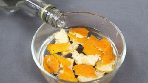 橘子皮放白酒里泡一泡,太神奇了,10人9人都需要,一年能省不少钱