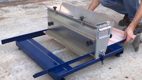 """葡萄牙发明""""贴瓷砖""""神器,一小时能贴40平方米,80元造一个"""