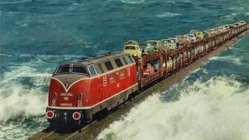世界上最壮观的铁路:建在大海上,难道不怕被海浪掀翻吗