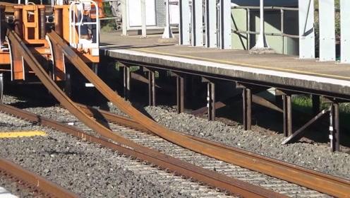 铁轨是怎么铺设的?看完铁轨铺设过程,差点以为铁轨是塑料做的