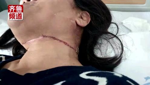 女子骑车被风筝线割伤,颈部缝30针,伤口最深4公分!