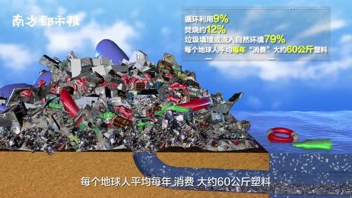 3D展示垃圾的迁移:随意丢弃的塑料垃圾,正在摧毁我们的海洋