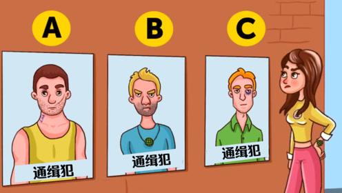 推理谜题:这3个通缉犯当中,谁是女子的丈夫?