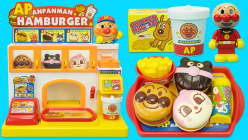 面包超人过家家玩具 会说话的汉堡快餐店