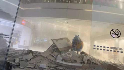 深圳一商场天花板垮塌,商场:无人员伤亡,已进行了隔离