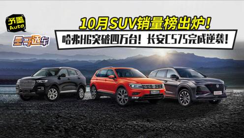 10月SUV销量榜出炉!哈弗H6突破四万台!长安CS75完成逆袭!