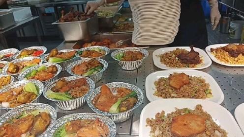 富士康厂区食堂的午餐,这菜十三元一份,你们觉得贵吗?