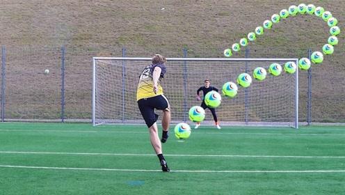 将足球充满氦气会有什么效果?老外亲测,结果让人难以置信!