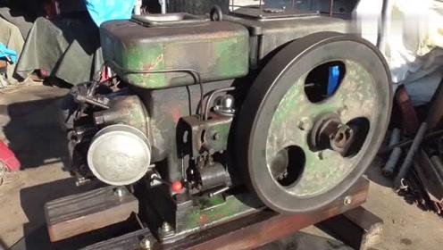 修复1950年代的洋马柴油发动机,质量没得说,修好还能用好些年