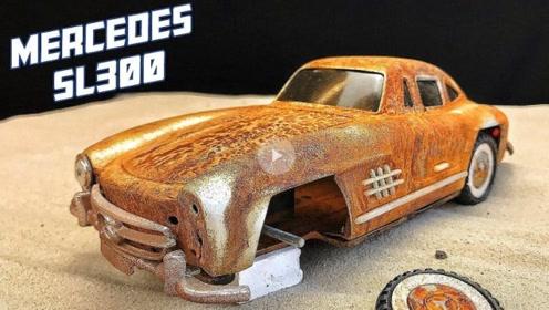 路边捡的破旧玩具车,师傅经过一番修复后,成品让人眼前一亮