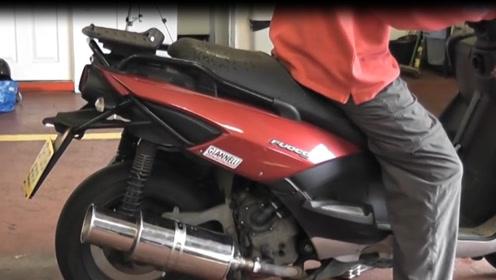 老外爆改摩托车,安装奔驰V8排气管,油门一轰我还以为是法拉利