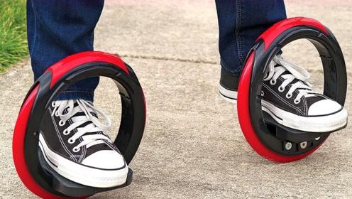最新交通工具诞生,穿在脚上就能跑,时速20公里,彻底代替自行车