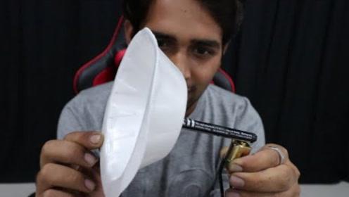 印度小哥自制最简单的扬声器,成本不足10元