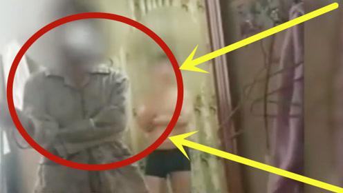 监控:男子带女友去开房,刚进房间就有人敲门,原来早有预谋!