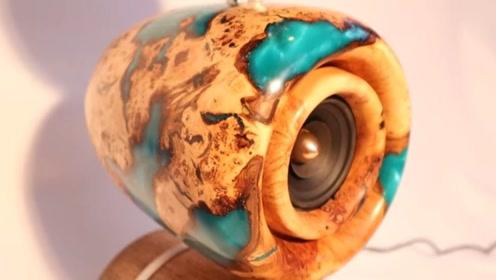 音箱太贵买不起,就用木头制作了几个,音质比买的好听