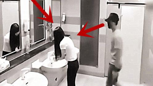 美女刚走进洗手间,一男子就尾随跟了进去欲行不轨,她拼力反抗!