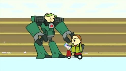 创意动漫搞笑动画,这就是强者的威力