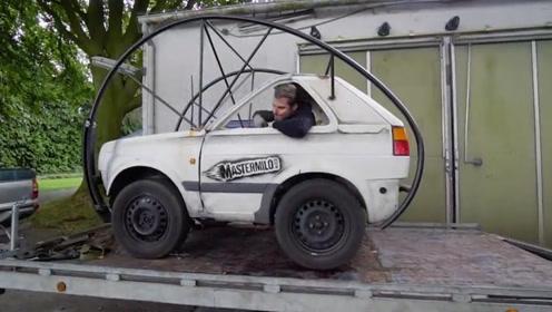 """俄罗斯大叔改装报废车,号称""""永远不会开翻"""",不愧是战斗民族"""