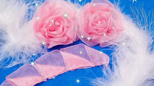 饰品DIY,简单又漂亮的丝带玫瑰花