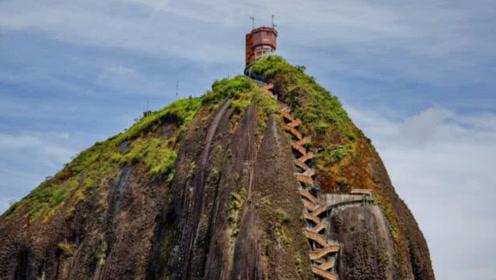 奇闻:世界上最陡峭的房子,建在悬崖巨石上,回家要爬60层楼!