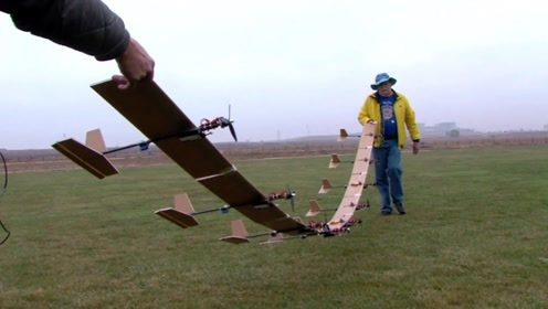 老外把九架飞机粘一起,这样还能飞起来吗?网友:是我少见多怪了!
