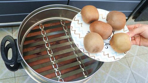 猕猴桃放锅里蒸2分钟,厉害用途拿钱都难买,学会受益一辈子