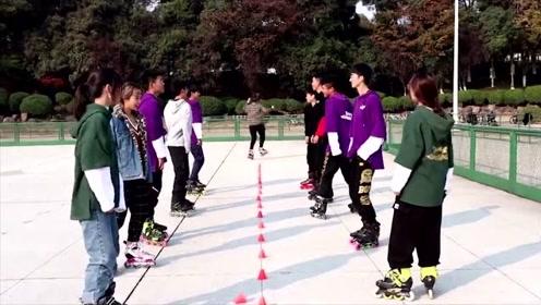 江苏大学旱冰协会抖肩舞