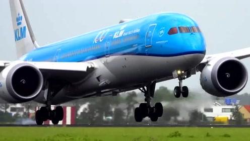 波音787客机,机身都斜着这个样子了,机长果断选择复飞