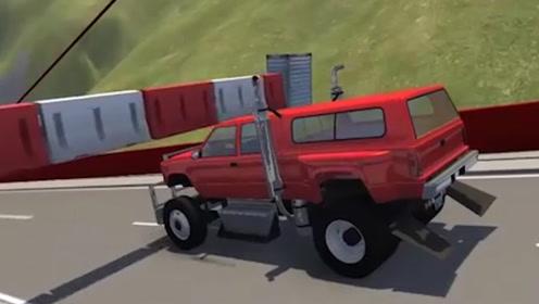 汽车驶过限高杆会怎样?老外用3d动画模拟,结果让人不敢相信!
