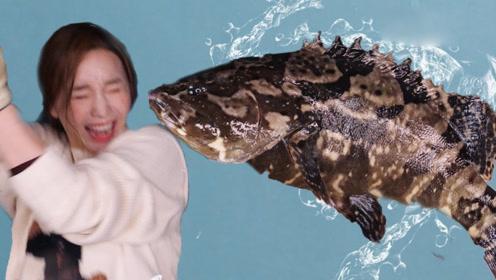 女吃货被吓得花容失色,海鱼有3种死法,吃起来超过瘾