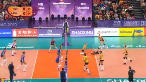 女排世俱杯铜牌战,瓦基弗银行VS诺瓦拉,第一局回放