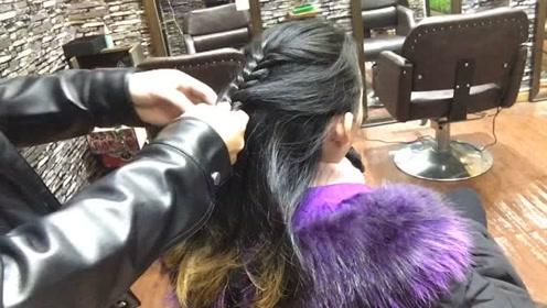 40岁到50岁女性头发这样扎,气质好好,不到2分钟就扎完