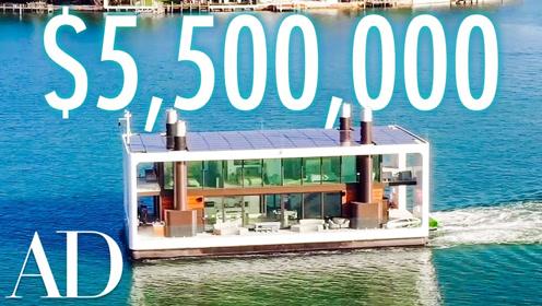 迈阿密这座550万美元的海上漂浮别墅美到让人惊呆!