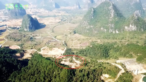 航拍名地将军点兵,小小山头竟有如此多的墓穴,真是壮观