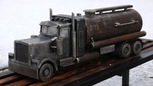捡来堆废铁,俄国机械牛人暴力改装,看到用途你都不敢信!
