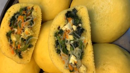 玉米面菜团子全家都喜欢,粗粮细作更好吃!