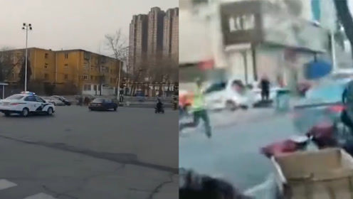 惊险!小轿车带着7个汽油满载汽油疯狂逃窜 街头上演警匪追逐战