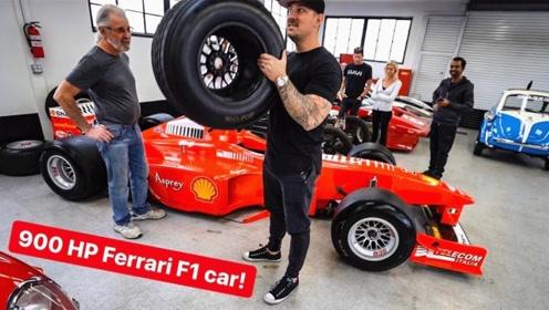 F1赛车轮胎有多轻?双手举起后,彻底颠覆认知!