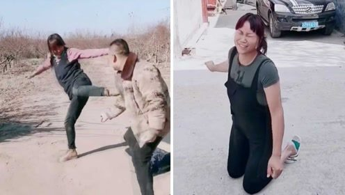 夫妻打架视频堪比功夫片,妻子会武术把丈夫吊打,真相惊到网友