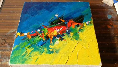 趣味艺术画:画漂亮油画